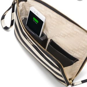 Charge iPhone on the go! Kate spade clutch